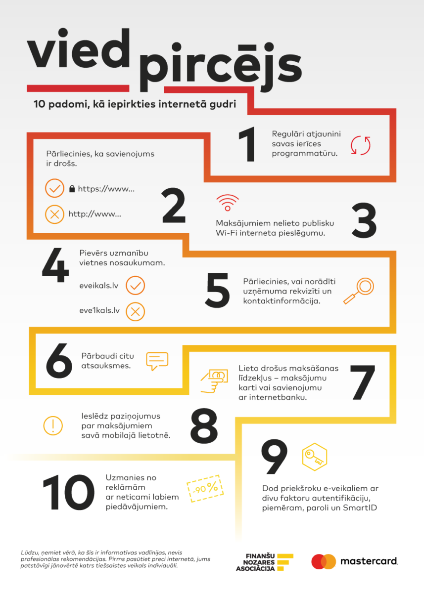 10 padomi, kā iepirkties internetā gudri